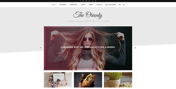 Wordpress Blog Template TheOrienty - A Skew Header Blog Theme