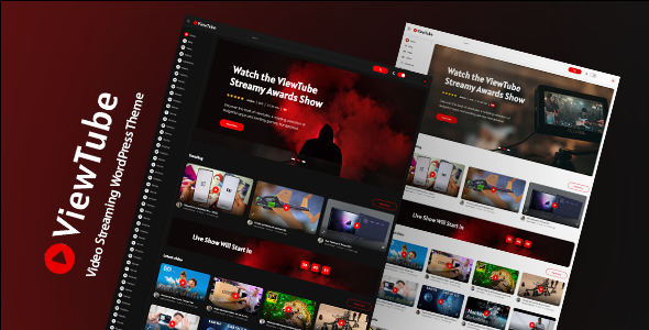 Wordpress Entertainment Template ViewTube | Video Streaming WordPress Theme
