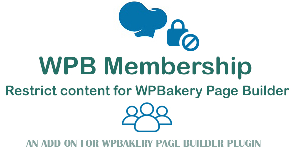 Wordpress Add-On Plugin WPB Membership - Restrict Content for WPBakery Page Builder