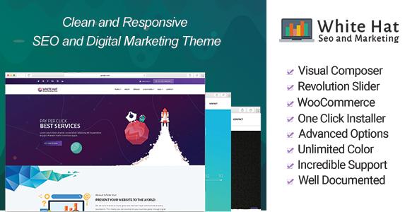 Wordpress Immobilien Template WhiteHat - Digital Marketing Theme