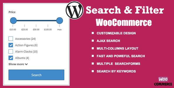 Wordpress E-Commerce Plugin WooCommerce Search & Filter plugin for WordPress