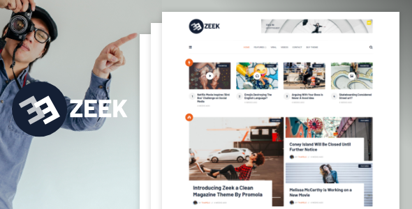 Wordpress Blog Template Zeek - A Clean WordPress Blogging / Magazine Theme