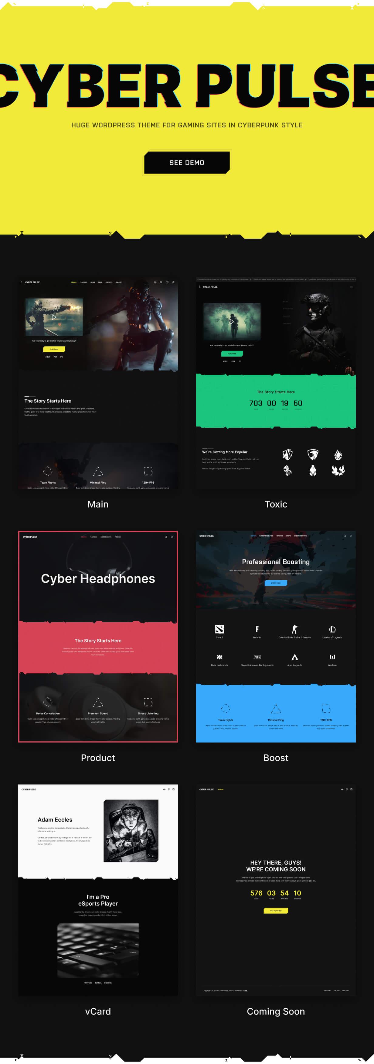 CyberPulse - Gaming- und eSport-Theme für WordPress mit Dark Mode