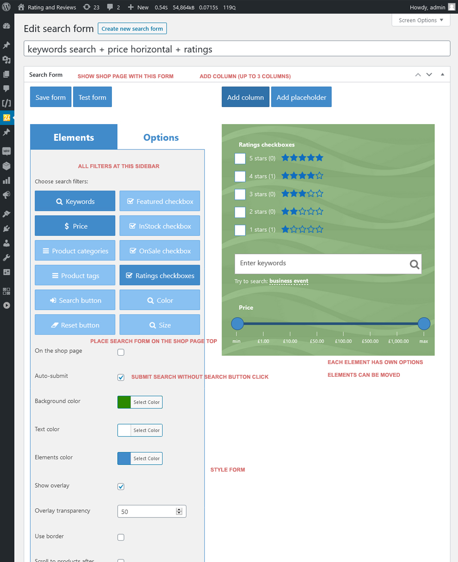 WooCommerce Search & Filter Plugin für WordPress - 6