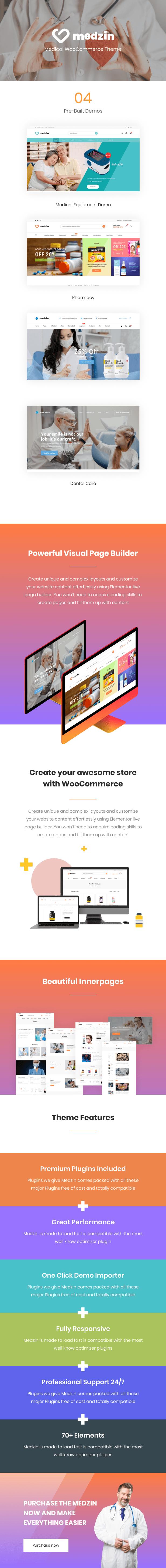 Medzin - Mehrzweck-medizinisches WordPress-Theme für WooCommerce - 1
