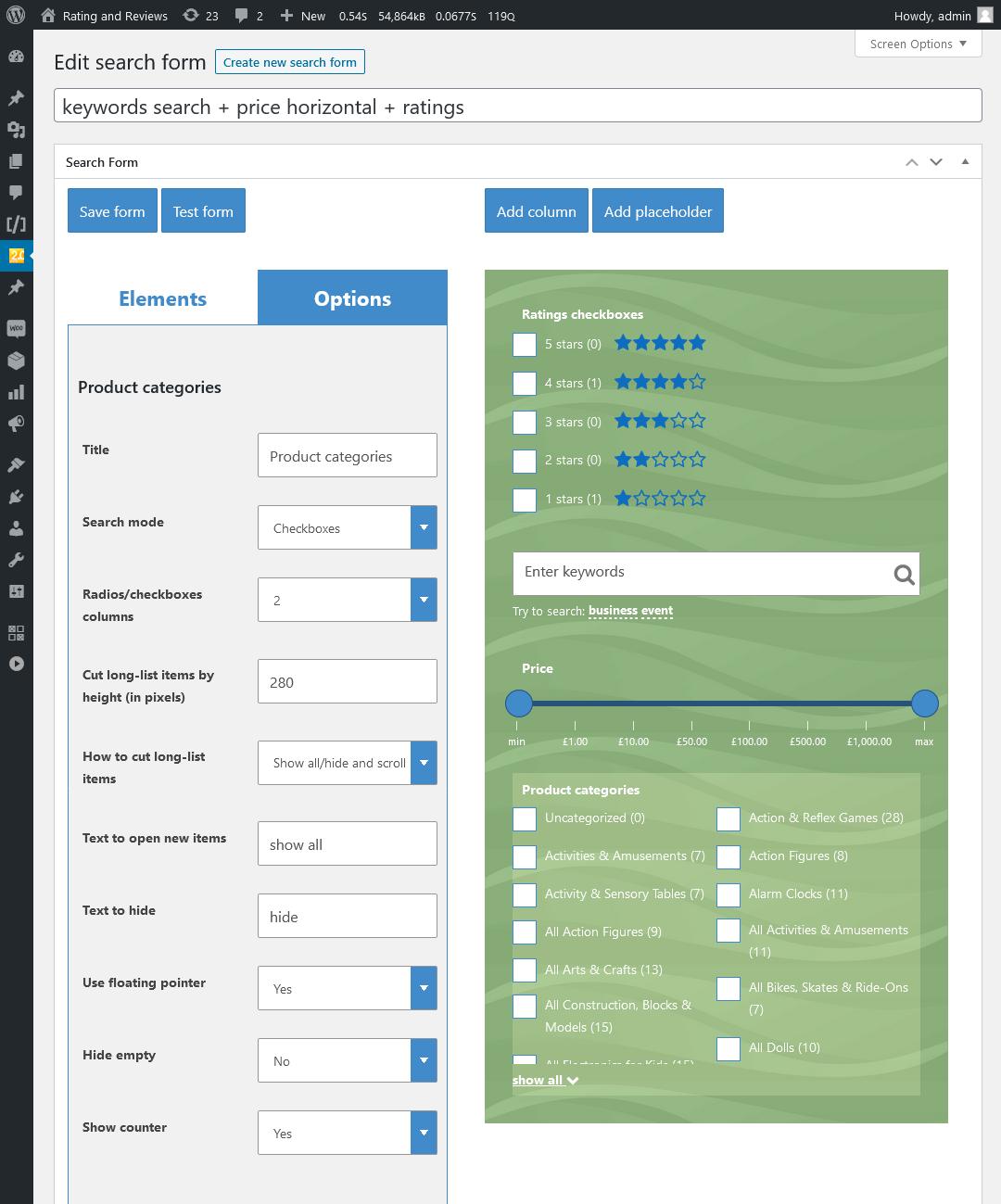 WooCommerce Search & Filter Plugin für WordPress - 7