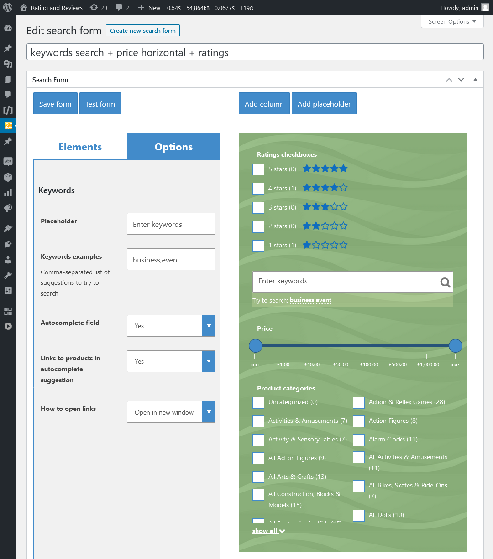 WooCommerce Search & Filter Plugin für WordPress - 8