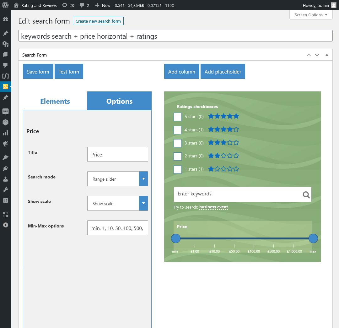 WooCommerce Search & Filter Plugin für WordPress - 9