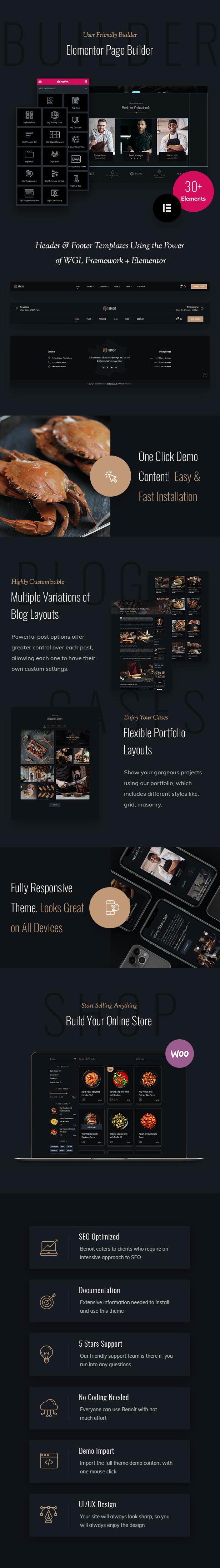 Benoit - Restaurants & Cafés WordPress Theme - 3