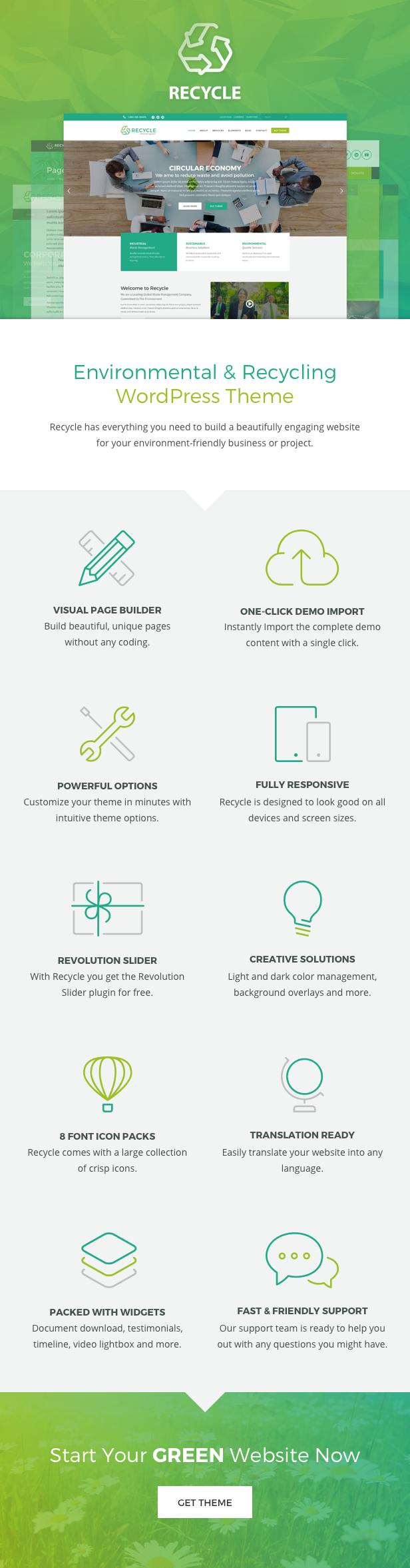 Recycle - Umwelt & Green Business WordPress Theme - 1