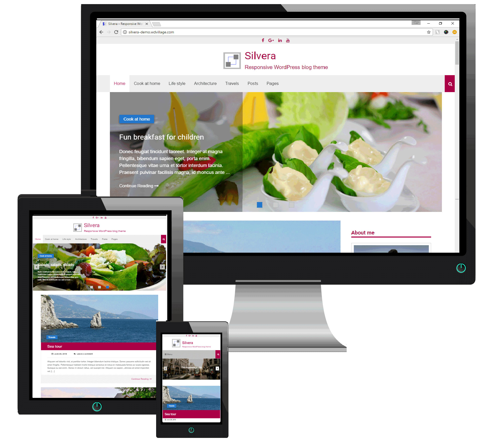 Silvera - Responsives WordPress-Blog-Theme - 1