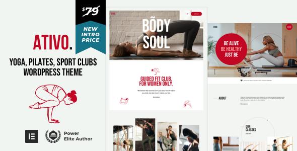 Wordpress Immobilien Template Ativo - Yoga Pilates WordPress