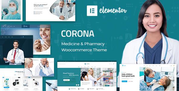 Wordpress Shop Template Corona | Medical Pharmacy WooCommerce WordPress Theme