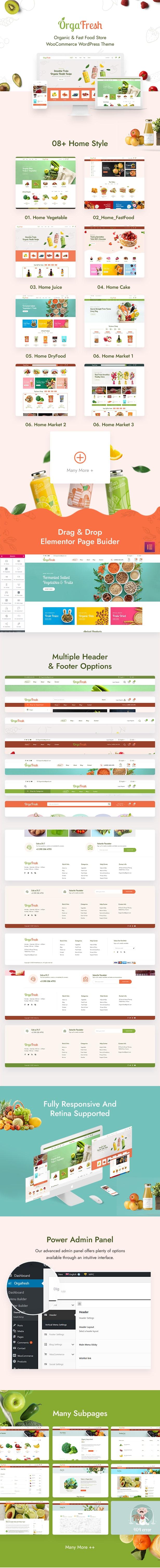 Orgafresh - Bio & Lebensmittel WooCommerce Theme - 1