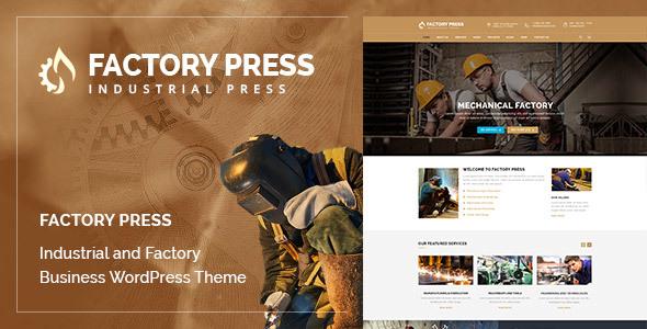Wordpress Immobilien Template Factory Press - WordPress Theme