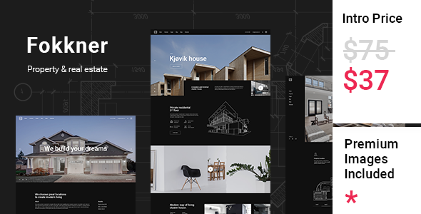 Wordpress Immobilien Template Fokkner - Real Estate and Property Theme