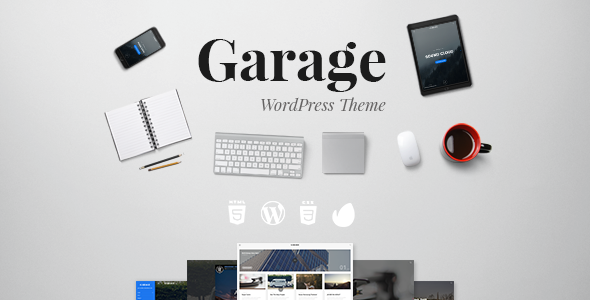 Wordpress Blog Template Garage Blog A responsive WordPress theme