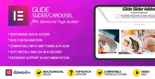 Wordpress Add-On Plugin Glide Slider Addon for Elementor Page Builder