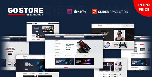 Wordpress Shop Template GoStore - Elementor WooCommerce WordPress Theme