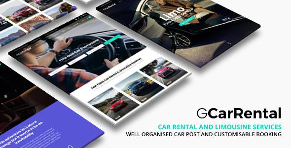 Wordpress Immobilien Template Grand Car Rental | Limousine WordPress