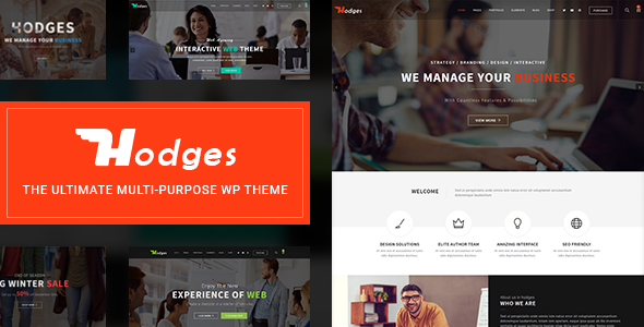Wordpress Immobilien Template Hodges | Modern Business & Corporate Multi-Purpose WordPress Theme