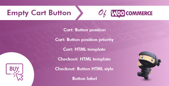 Wordpress E-Commerce Plugin Empty Cart Button for WooCommerce Pro