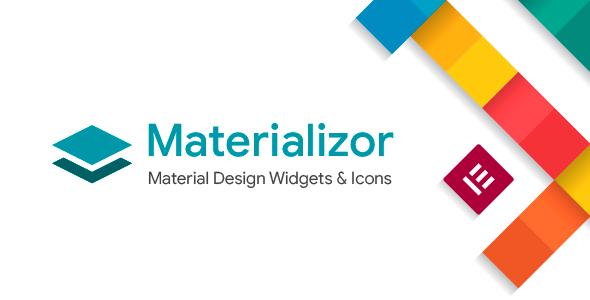 Wordpress Add-On Plugin Materializor - Elementor Material Design Widgets & Icons