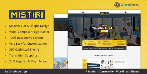 Wordpress Immobilien Template Mistiri - Construction Company Theme