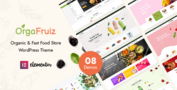 Wordpress Shop Template OrgaFruiz - Organic & Food WooCommerce Theme (RTL Supported)