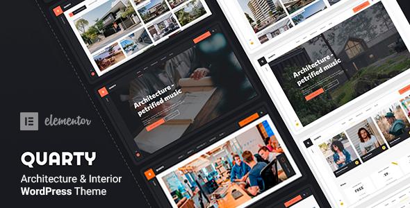 Wordpress Kreativ Template Quarty - Architecture Interior Design Theme