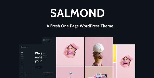 Wordpress Kreativ Template Salmond - A Fresh One Page WordPress Theme