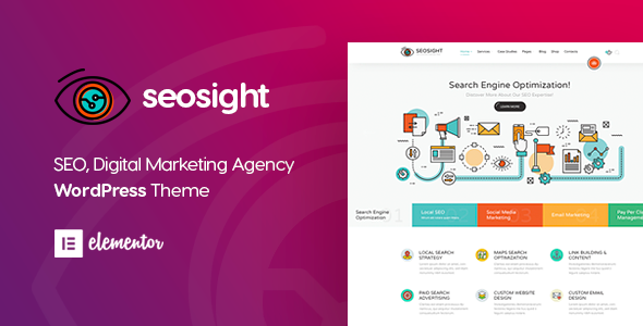 Wordpress Immobilien Template Seosight - Digital Marketing Agency WordPress Theme