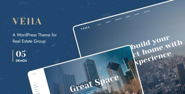 Wordpress Immobilien Template Vella - Real Estate WordPress Theme