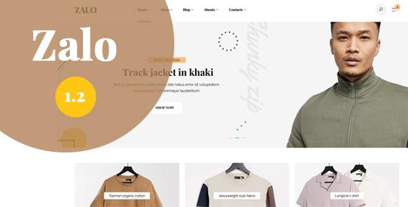 Wordpress Shop Template Zalo fashion - WooCommerce theme