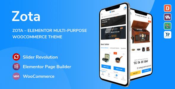 Wordpress Shop Template Zota - Elementor Multi-Purpose WooCommerce Theme