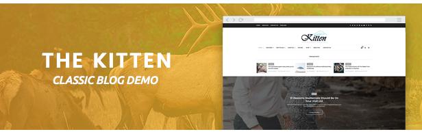 Kätzchen - Elegantes WordPress-Blog-Theme mit mehreren Konzepten