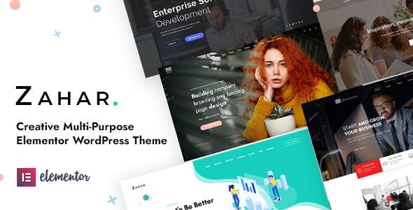 Zahar - Creative Multipurpose Elementor WordPress Theme - Creative WordPress