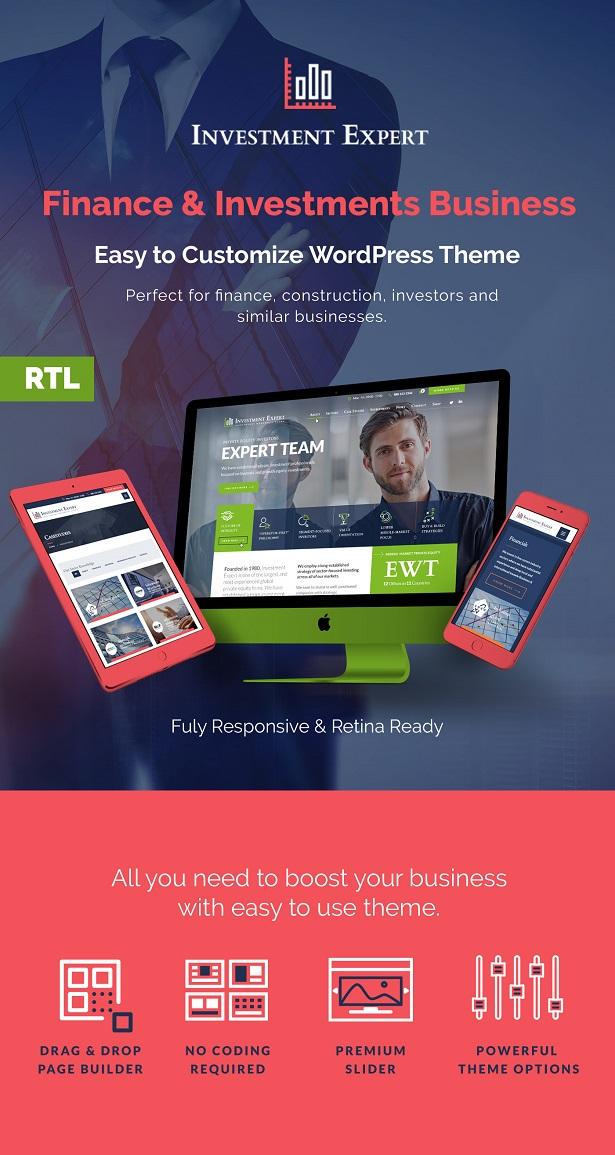 Investment Expert - Business Theme für Agenturen in der Finanzberatung + RTL - 1
