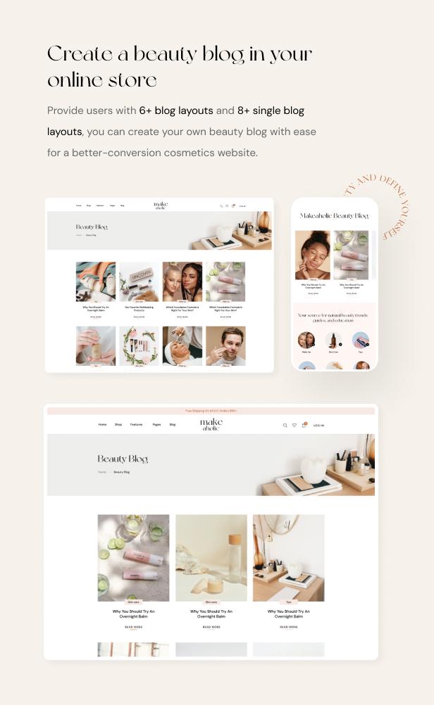 Makeaholic - Beauty Cosmetics WordPress Theme - 6