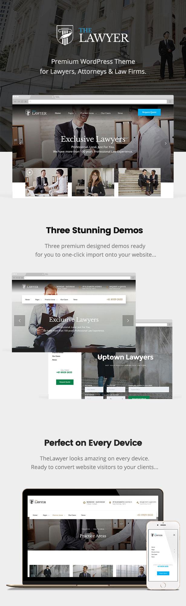 TheLawyer – Rechtsanwalt & Rechtsanwalt WordPress Theme - 1