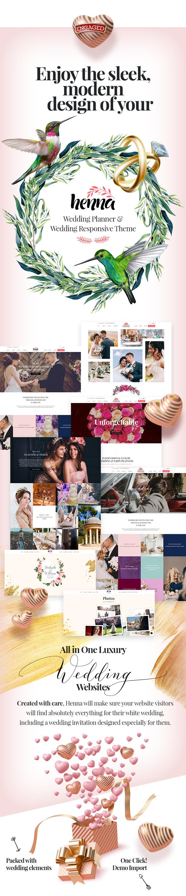 Henna - Hochzeits-WordPress-Theme - 1