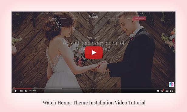 Henna - Hochzeits-WordPress-Theme - 2