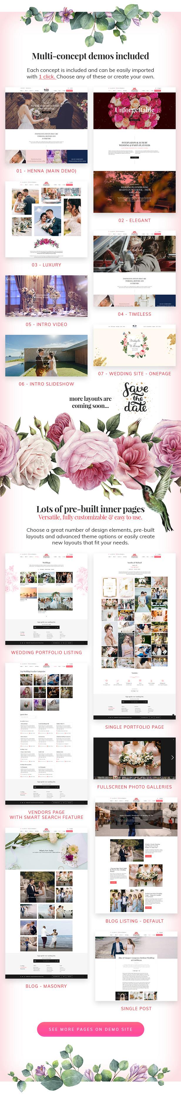 Henna - Hochzeits-WordPress-Theme - 3
