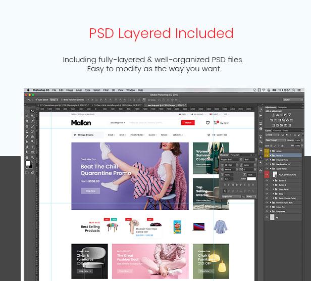 Mallon - Medical Store Elementor WooCommerce WordPress Theme - PSD