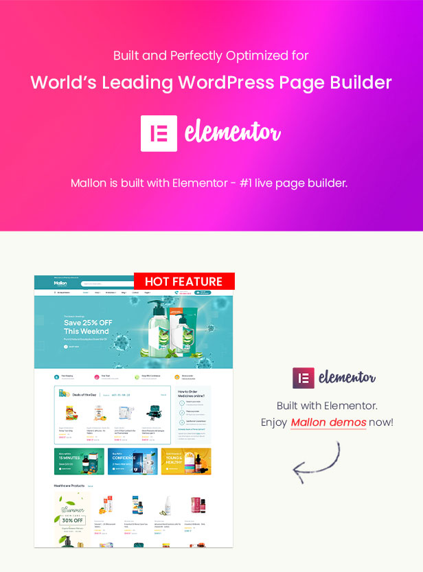 Mallon - Medical Store Elementor WooCommerce WordPress Theme - Elementor Ready