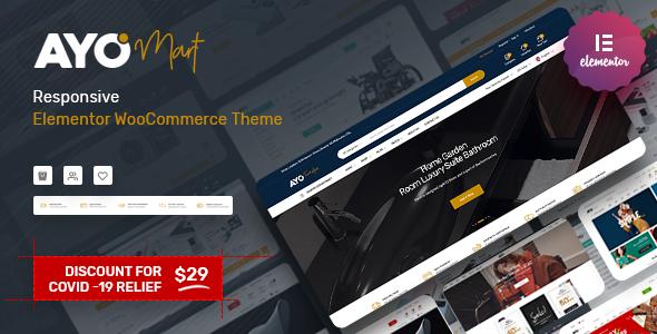 Wordpress Shop Template Ayo - Responsive Elementor WooCommerce Theme