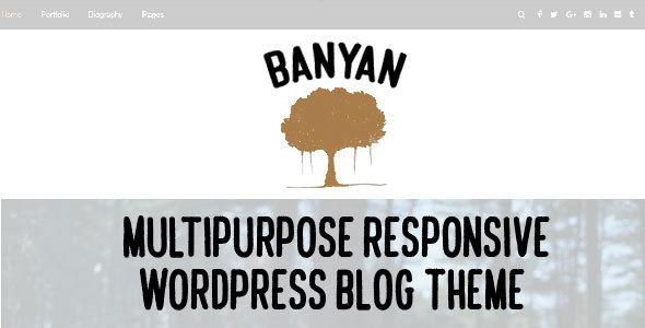 Wordpress Blog Template Banyan - Multipurpose Responsive WordPress Blog Theme