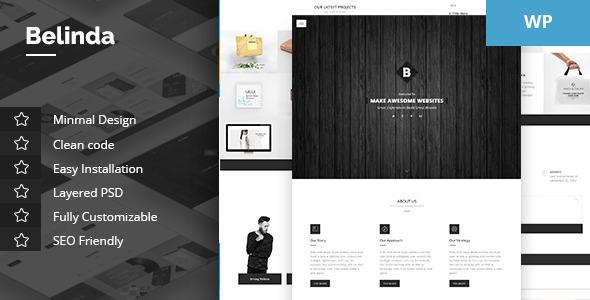Wordpress Kreativ Template Belinda - Agency & Portfolio Theme
