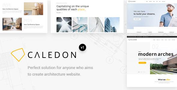 Wordpress Kreativ Template Caledon - Modern WordPress Theme For Architecture & Interior Companies