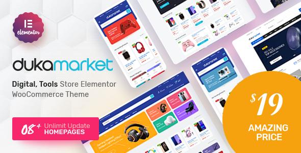 Wordpress Shop Template DukaMarket - Multipurpose WordPress Theme